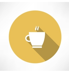 Coffee cup steam icon vector image