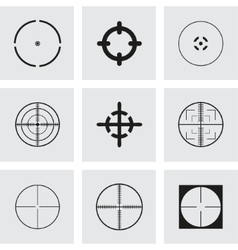 Crosshair icons set vector