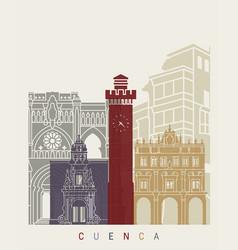 cuenca skyline poster vector image vector image