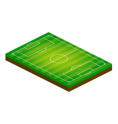 3d isometric football field sport theme soccer vector image
