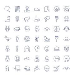 49 head icons vector