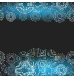 Abstract futuristic glowing circles on dark blue vector