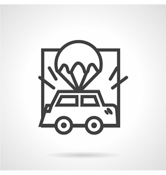Abstract icon for car insurance vector image