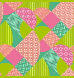 Abstract multicolored geometric pattern vector