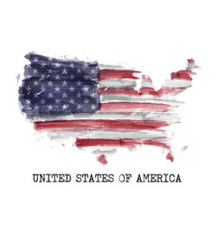 america flag watercolor painting design vector image