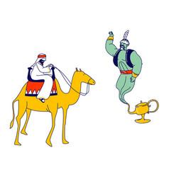Arabian fairytale fantasy story telling concept vector