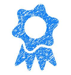Award seal grunge icon vector