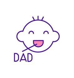 Baby say dad rgb color icon vector