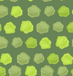 Background green cabbage seamless pattern of vector