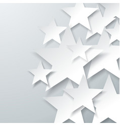 background with flat paper stars abstract vector image