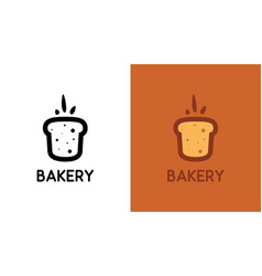 bakery logo with bread in creative style vector image