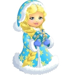 Beautiful Snow Maiden on a white background vector image