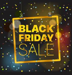 black friday sale concept black friday sale vector image