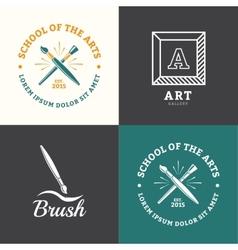 Brush logo vector image