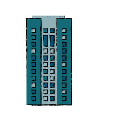 Building facade apartment home icon vector