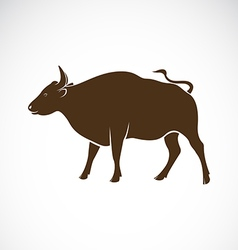 Bull on a white background vector