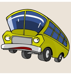 Cartoon Character Yellow Bus vector