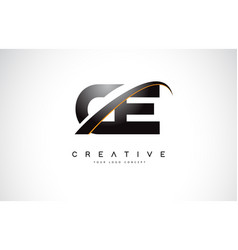 Ce c e swoosh letter logo design with modern vector
