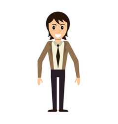 Character man male avatar standing vector