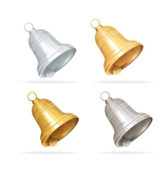 Christmas bell set on white background vector