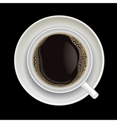 coffee cup isolated on a black background vector image