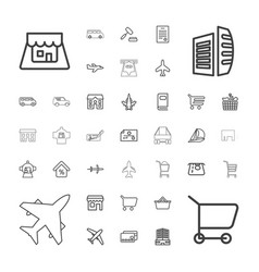 commercial icons vector image