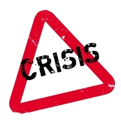 Crisis rubber stamp vector image