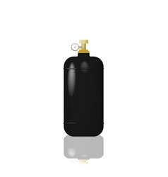 Cylinder with liquefied gas vector