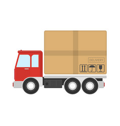 Delivery truck service icon vector