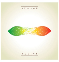 Demi seasonal creative design as the leaves vector image