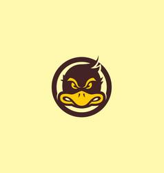 Duck mascot logo vector