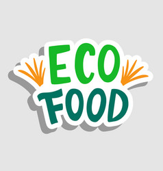 eco food sticker sign badge vector image