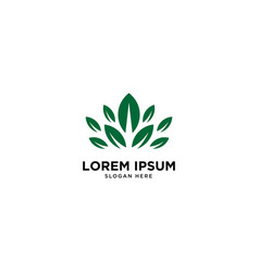 Eco leaf nature simple logo template icon element vector