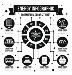 Energy infographic concept simple style vector