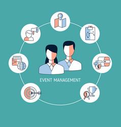 Event management concept event management concept vector