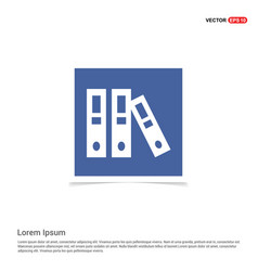 file cover icon - blue photo frame vector image