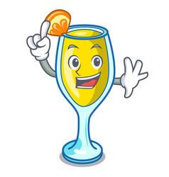 Finger mimosa mascot cartoon style vector