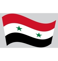 Flag of Syria waving vector