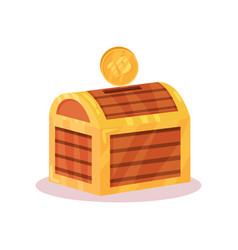 flat icon of small money box in shape of vector image
