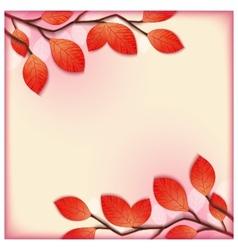 Floral 3d postcard template vector