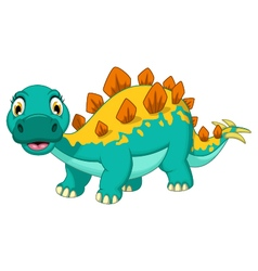 Funny stegosaurus cartoon posing vector