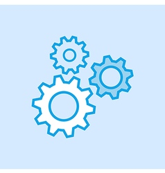 Gears Cog Icon Simple Blue vector