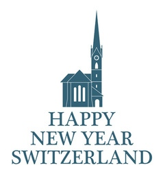 Greeting Card Switzerland vector