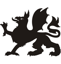 heraldic griffin tattoo vector image