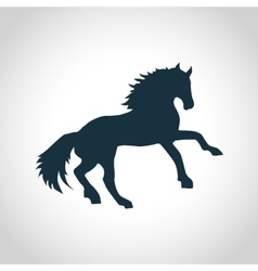 Horse black silhouette vector image