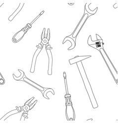 industrial tools kit seamless pattern vector image