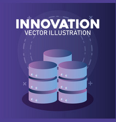 Innovation and technology design vector