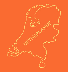Map of netherlands with flag isolated white vector