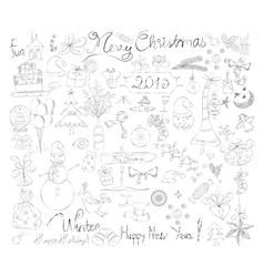 Merry Christmas Signs doodle Collection vector