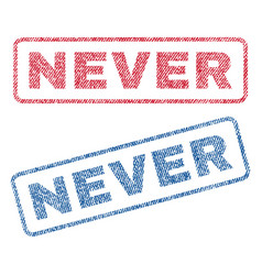 Never textile stamps vector